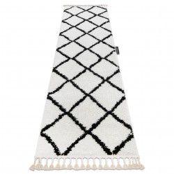 Tappeti, tappeti passatoie bianca BERBER CROSS bianca - per il soggiorno, la cucina, il corridoio