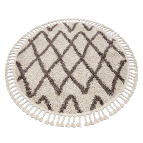 Tappeto BERBER BENI cerchio crema Frange berbero marocchino shaggy