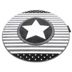 Koberec PETIT STAR HVĚZDA kruh šedá