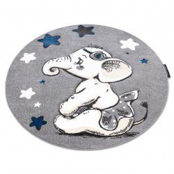 Carpet PETIT ELEPHANT STARS circle grey