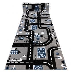 Teppich Teppichboden PETIT CITY STADT STRAßEN grau