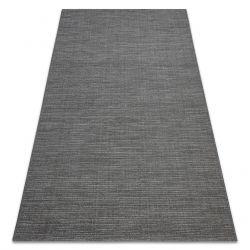 Килим шнуровий SIZAL FORT 36201094 сірий простий одноколірний меланж