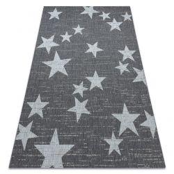 Килим SIZAL FLAT 48699392 Звезди бял сив