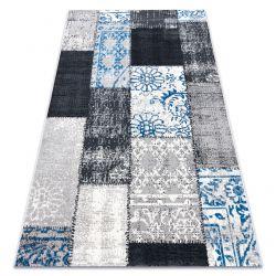 Dywan Vintage 22218053 szary / niebieski patchwork