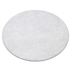 Carpet, round SANTA FE cream 031 plain, flat, one colour