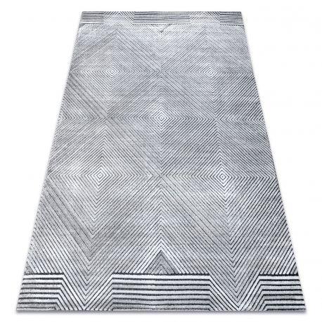 Tappeto Structural SIERRA G5012 tessuto piatto grigio - geometrico, quadri