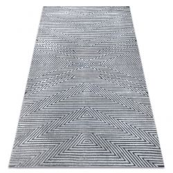 Dywan Strukturalny SIERRA G5013 Płasko tkany, dwa poziomy runa szary - zygzak, etniczny