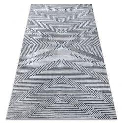 Tappeto Structural SIERRA G5013 tessuto piatto grigio - ZIGZAG, etnica
