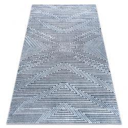 Tappeto Structural SIERRA G5013 tessuto piatto blu - ZIGZAG, etnica
