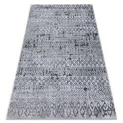 Tapis Structural SIERRA G6042 tissé à plat gris - géométrique, ethnique