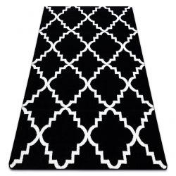 Tappeto SKETCH - F343 nero/bianco marocco trifoglio trellis