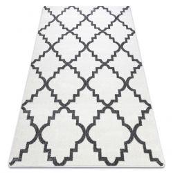 Tappeto SKETCH - F343 bianco/grigio marocco trifoglio trellis