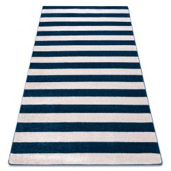 Carpet SKETCH - F758 blue/white - Striped