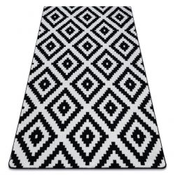 Килим SKETCH – F998 черно/бяло – квадрати