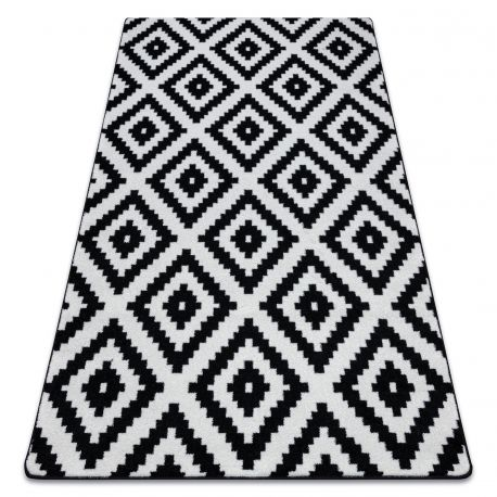 Килим SKETCH - F998 біло-чорний квадрати