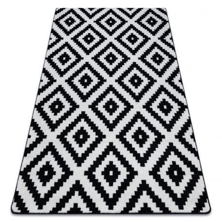 Koberec SKETCH - F998 bílá/černá - čtverců
