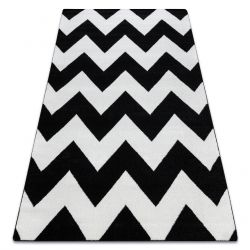 Tapis SKETCH - FA66 noir et blanc - Zigzag