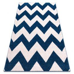 Килим SKETCH - FA66 синьо-білий - зигзаговий