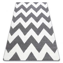 Tapis SKETCH - FA66 gris et blanc - Zigzag