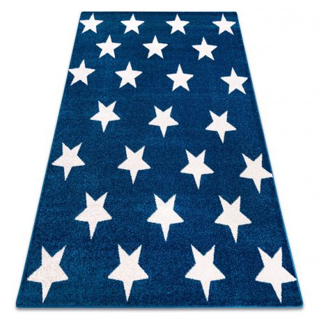 Килим SKETCH - FA68 синьо-білий - зірки