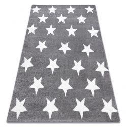 Килим SKETCH - FA68 сіро-білий - зірки