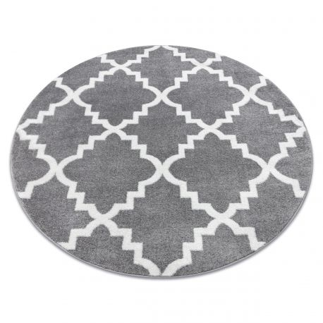 Carpet SKETCH circle - F343 grey /white trellis