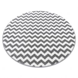 Alfombra SKETCH círculo - F561 gris/blanco - Zigzag
