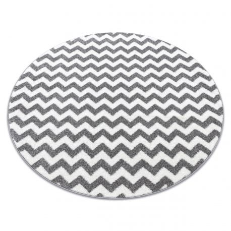 Carpet SKETCH circle - F561 grey/white - Zigzag