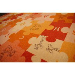 Tappeto kids PUZZLE arancione