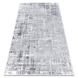 Tapis moderne MEFE 8722 Lignes vintage - Structural deux niveaux de molleton gris / blanc