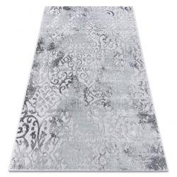 Modern MEFE carpet 8724 Ornament vintage - structural two levels of fleece grey