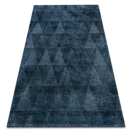 Tappeto HENT 78312392 Triangoli geometrico vintage blu
