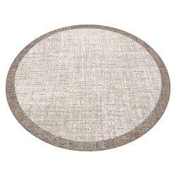 Fonott sizal floorlux szőnyeg kör 20401 Keret pezsgő / tópszín