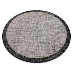CARPET SIZAL FLOORLUX CIRCLE 20401 Frame silver / black