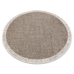 Fonott sizal floorlux szőnyeg kör 20401 Keret tópszín / pezsgő