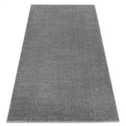 Koberec SOFT 2485 plochý, jednobarevný šedá