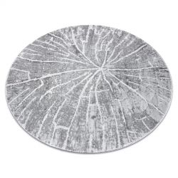 Modern MEFE carpet Circle 2784 Tree wood - structural two levels of fleece grey