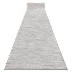 Tapis de couloir en cordes, tissé à plat PATIO Sisal, unicolore, modèle 2778 gris