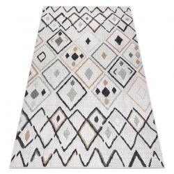 Tappeto SIZAL COOPER Diamanti, Zigzag 22236 ecru / nero
