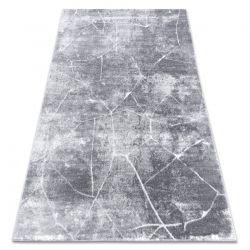 Tapete moderno MEFE 2783 Mármore - Structural dois níveis de lã cinza escuro