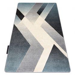 Koberec ALTER Wet Geometrický modrý / šedá