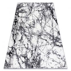 Moderní koberec COZY 8871 Marble, Mramor - Strukturální, dvě úrovně rouna šedá