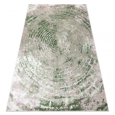 Koberec OPERA 0W9790 C89 54 Kruhy, Cihlový vintage - Structural dvě úrovně rouna slonová kost / zelená