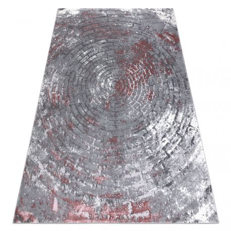 Carpet OPERA 0W9790 C90 58 Circles, Brick vintage - structural two levels of fleece grey / pink