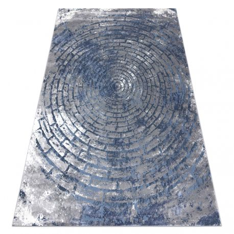 Carpet OPERA 0W9790 C92 54 Circles, Brick vintage - structural two levels of fleece grey / blue