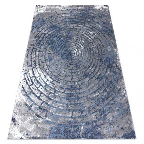 Teppich OPERA 0W9790 C92 54 Kreise, Backstein, vintage - Structural zwei Ebenen aus Vlies grau / blau