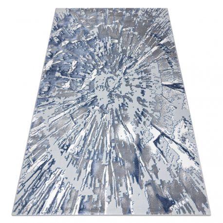 Tapis OPERA 0W9794 C92 54 Abstraction - Structural deux niveaux de molleton gris / bleu
