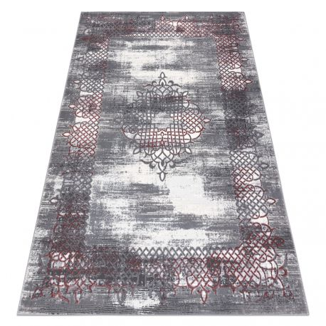 Tappeto OPERA 0W9797 C90 48 Ornamento - Structural due livelli di pile avorio / rosa scuro