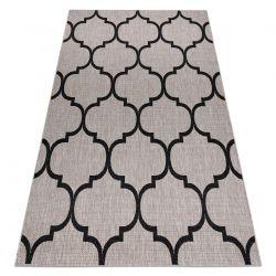 KOBEREC SIZAL FLOORLUX 20608 Marocká mřížka stříbrný / Černá