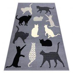 Bcf flash szőnyeg Cats 3996 - macskák, cicák szürke